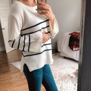 Blue & White Sweater